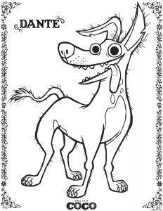 Disney Coloring Sheets: dante coco