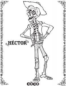 Disney Coloring Sheets: : hector coco coloring sheet