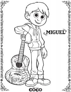 Disney Coloring Sheets: Miguel Coco Coloring page
