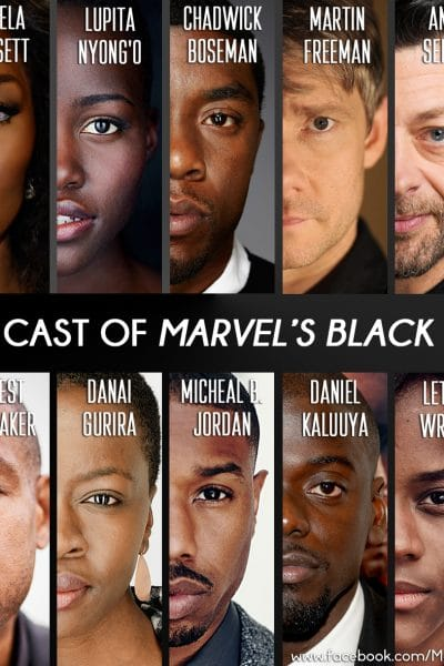 Cast of Black Panther and Official Trailer!