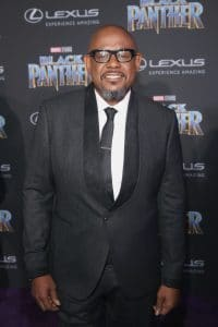 HOLLYWOOD, CA - JANUARY 29: Actor Forest Whitaker at the Los Angeles World Premiere of Marvel Studios' BLACK PANTHER at Dolby Theatre on January 29, 2018 in Hollywood, California. (Photo by Jesse Grant/Getty Images for Disney) *** Local Caption ***
