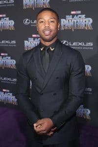 HOLLYWOOD, CA - JANUARY 29: Actor Michael B. Jordan at the Los Angeles World Premiere of Marvel Studios' BLACK PANTHER at Dolby Theatre on January 29, 2018 in Hollywood, California. (Photo by Jesse Grant/Getty Images for Disney) *** Local Caption ***