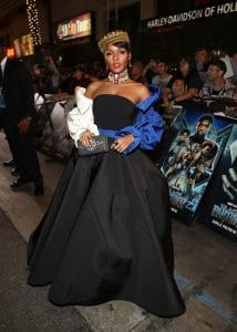 HOLLYWOOD, CA - JANUARY 29: Singer/actor Janelle Monae at the Los Angeles World Premiere of Marvel Studios' BLACK PANTHER at Dolby Theatre on January 29, 2018 in Hollywood, California. (Photo by Rich Polk/Getty Images for Disney) *** Local Caption *** Janelle Monae