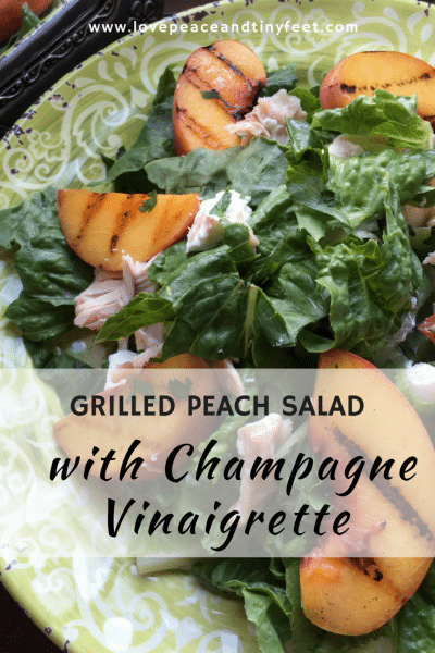 Grilled Peach Salad with Champagne Vinaigrette