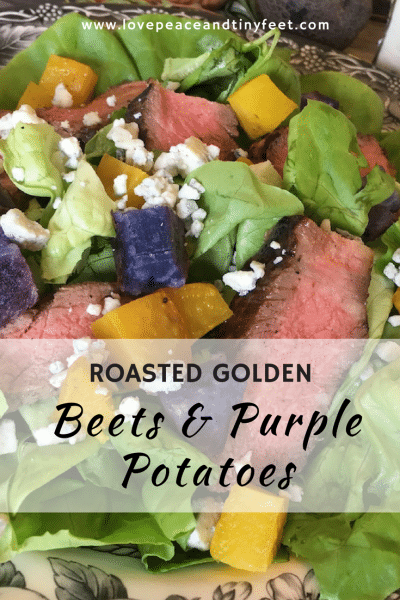 Roasted Golden Beets and Purple Potatoes