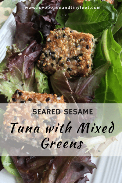 Seared Sesame Tuna with Mixed Greens