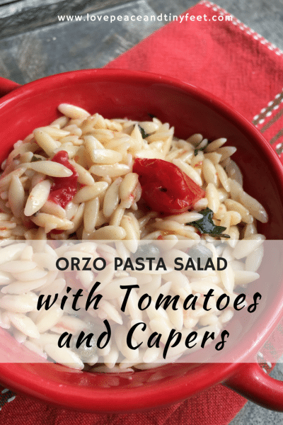 Orzo Pasta Salad with Tomatoes and Capers