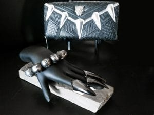 black panther jewelry and purse