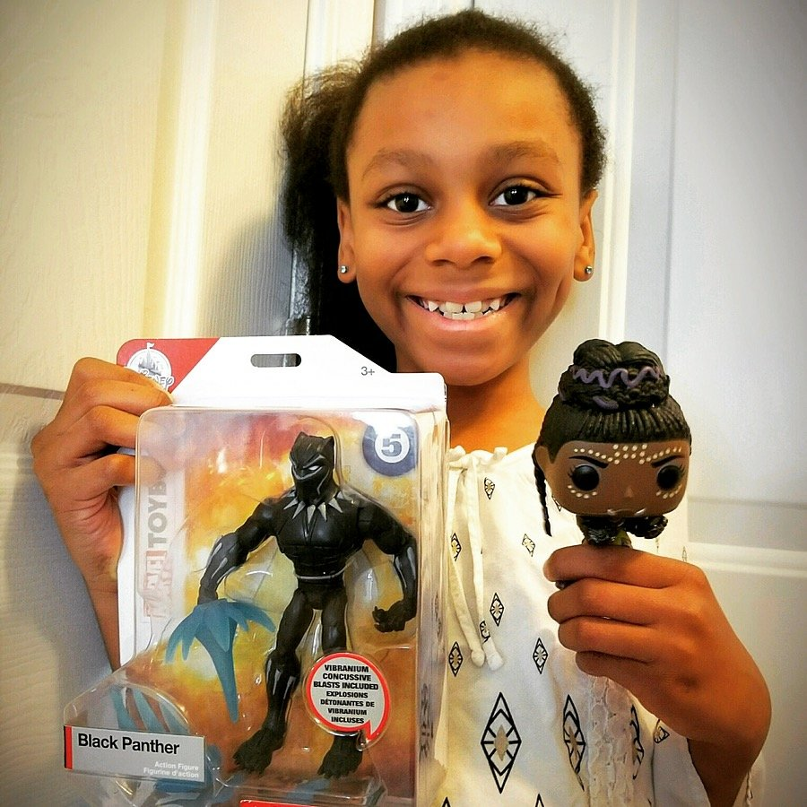Black panther and shuri dolls