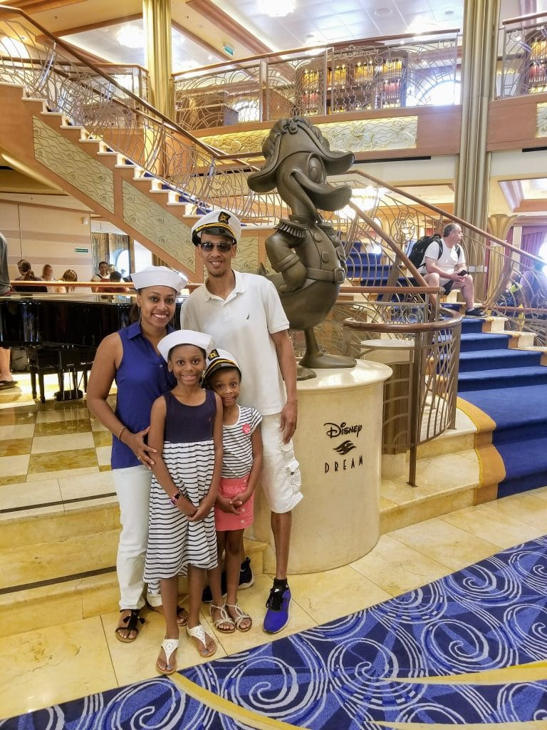 african american family on disney cruise