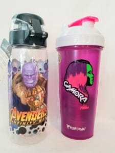 avengers and guardians of the galaxy water bottle