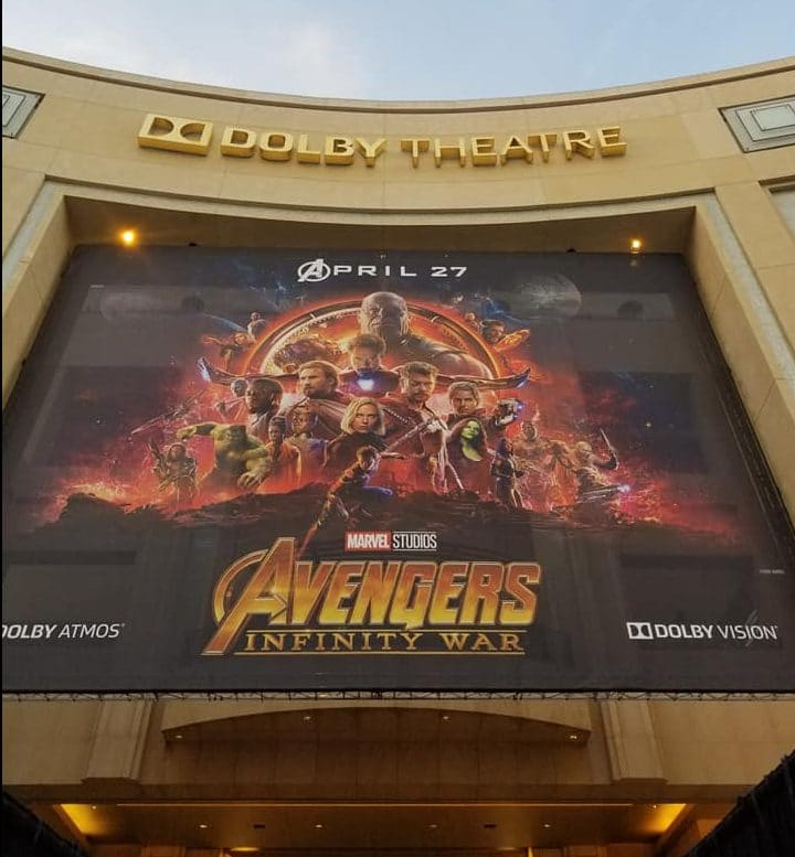 dolby theater infinity war premiere