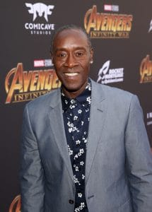 HOLLYWOOD, CA - APRIL 23: Actor Don Cheadle attends the Los Angeles Global Premiere for Marvel Studios' Avengers: Infinity War on April 23, 2018 in Hollywood, California. (Photo by Jesse Grant/Getty Images for Disney) *** Local Caption *** Don Cheadle