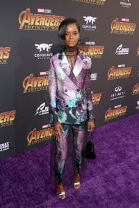 HOLLYWOOD, CA - APRIL 23: Actor Letitia Wright attends the Los Angeles Global Premiere for Marvel Studios' Avengers: Infinity War on April 23, 2018 in Hollywood, California. (Photo by Jesse Grant/Getty Images for Disney) *** Local Caption *** Letitia Wright