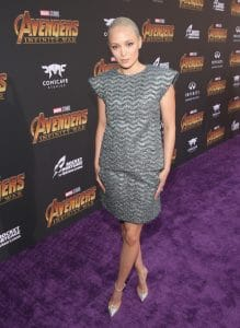 HOLLYWOOD, CA - APRIL 23: Actor Pom Klementieff attends the Los Angeles Global Premiere for Marvel Studios' Avengers: Infinity War on April 23, 2018 in Hollywood, California. (Photo by Jesse Grant/Getty Images for Disney) *** Local Caption *** Pom Klementieff