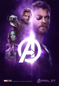 Avengers Infinity War Thor, Star Lord and Gamora Poster