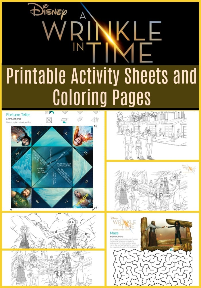 Here are some fun and free printable kids activity sheets and coloring pages from the Disney A Wrinkle In Time movie to keep the kids busy over spring and summer break!