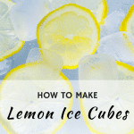 How to make Lemon Ice Cubes