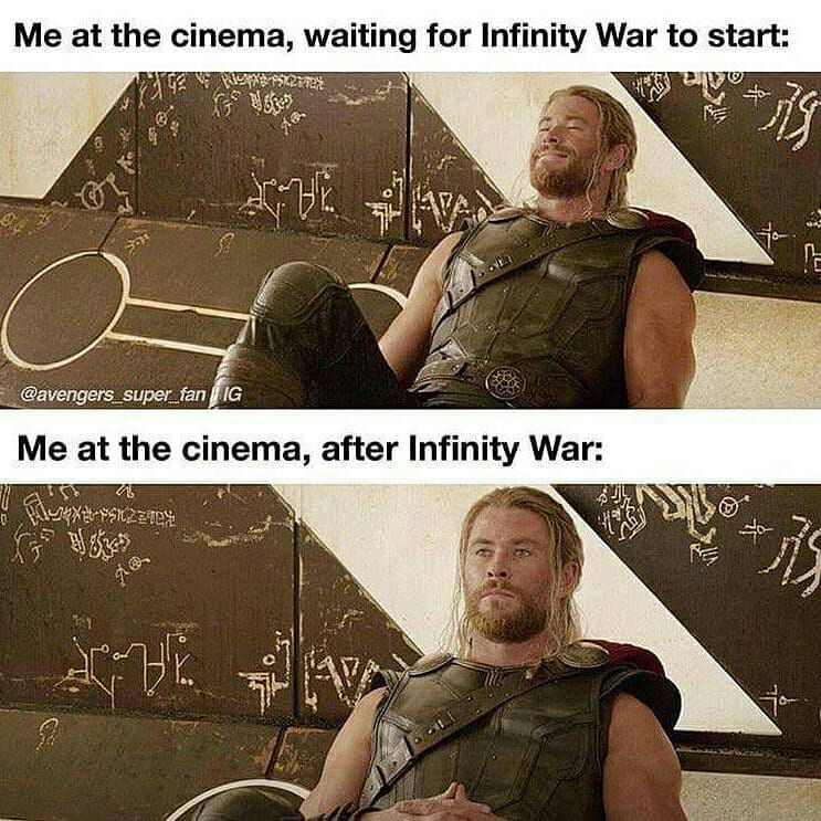 thor meme reaction to infinity war