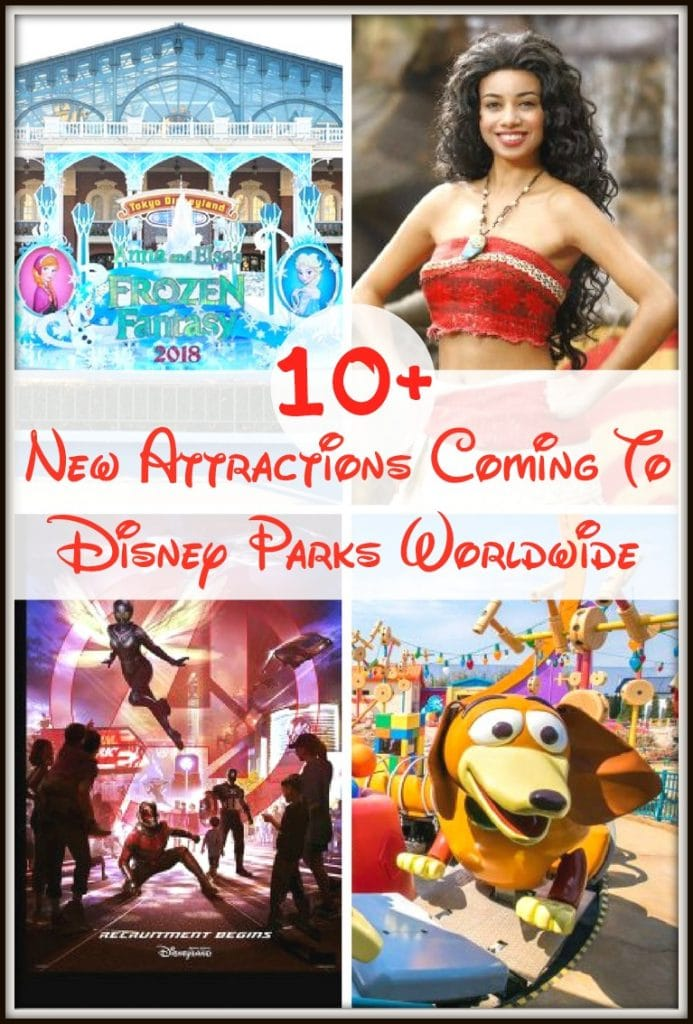 If you find yourself traveling to Disneyland, Disneyland Paris, Hong Kong Disneyland, Tokyo Resort, or Shanghai Resort, you'll be excited to see all of the newest attractions coming to Disney Parks around the world!