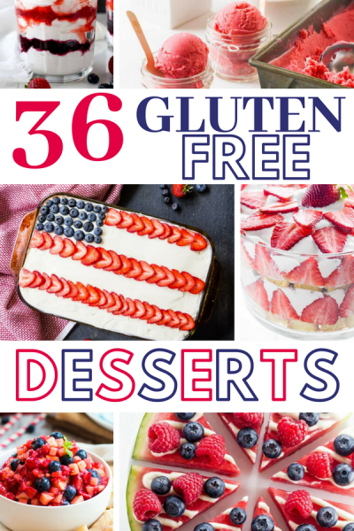 36 Festive Gluten Free Desserts for the 4th of July