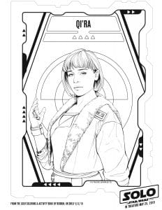 QiRa Coloring Page for kids