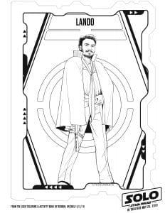 Lando printable coloring page for kids