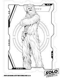 Chewbacca Coloring Page printable Solo coloring page for kids