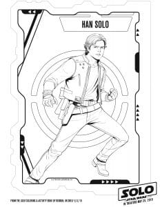 HanSolo printable coloring sheet for kids