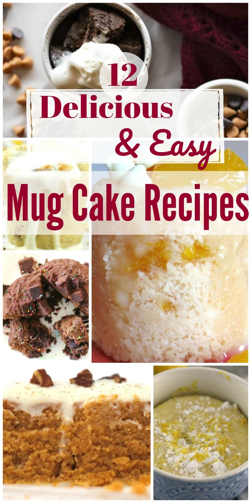 There are surprisingly a lot of mug cake recipes out there and with a variety of flavors and dietary options - including low carb and gluten free mug cakes.   Here are some of the most delicious mug cake recipes I've found to satisfy that sweet tooth.