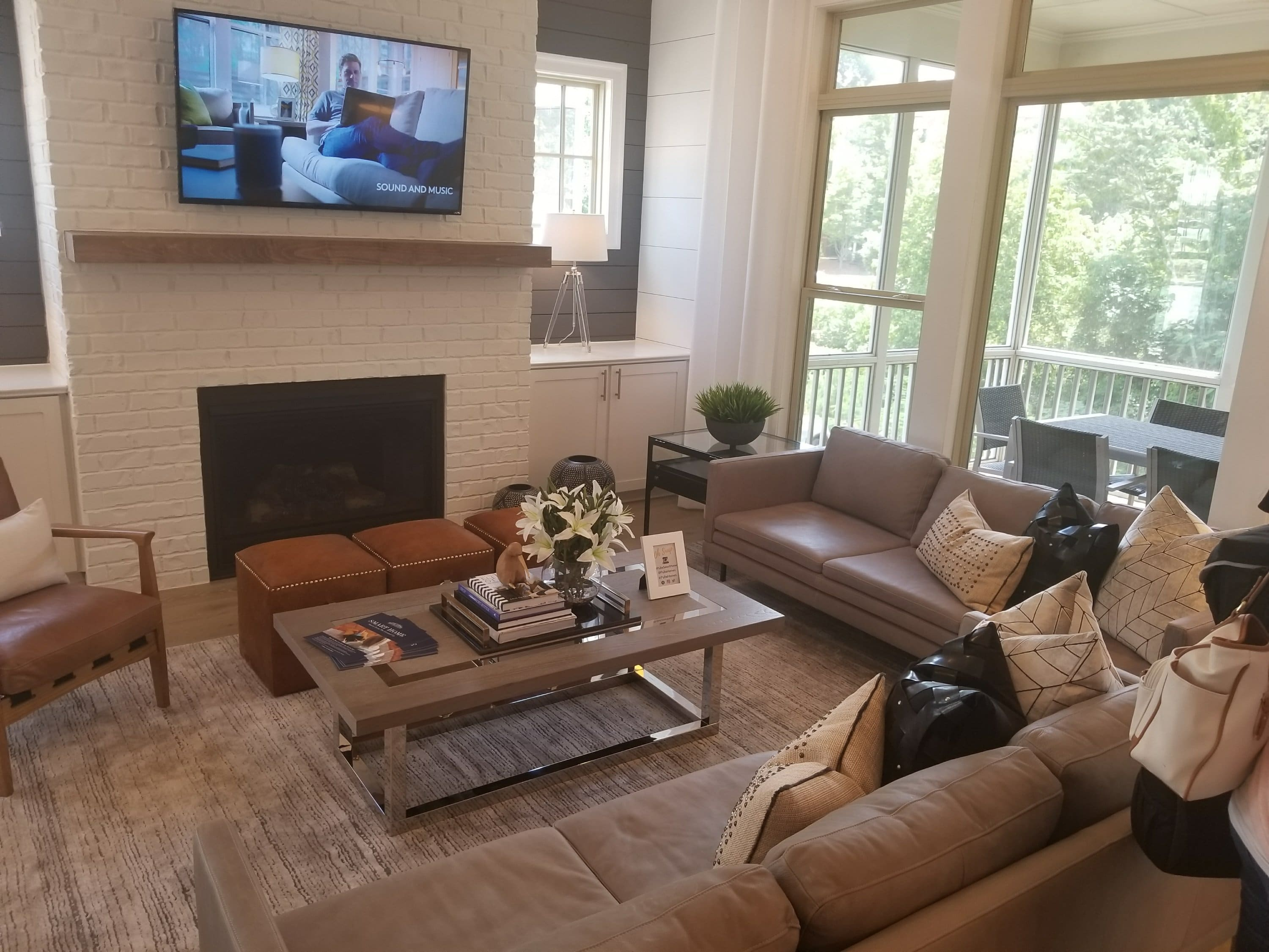 Pulte Smart Home interior with smart entertainment systems
