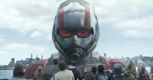 Marvel Studios' ANT-MAN AND THE WASP Ant-Man/Scott Lang in his Giant-Man form (Paul Rudd) Photo: Film Frame