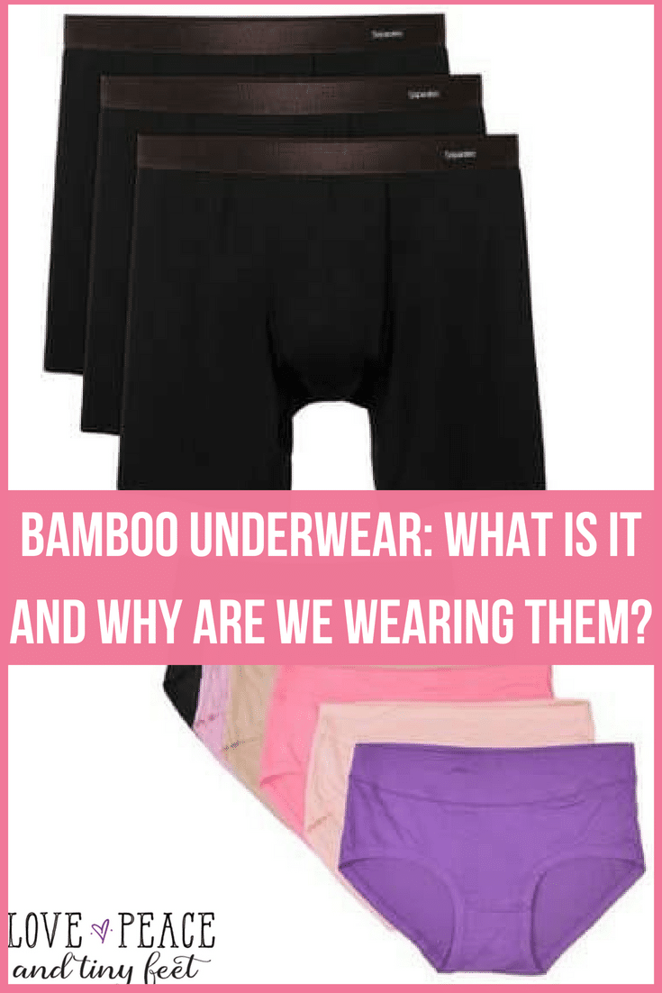 Bamboo underwear, like it sounds, is underwear made from the pulp of bamboo plants. It's not hard as you would assume because its the soft inner core of the bamboo plant used to make these.  A lot of people will rave about the highly breathable nature of the fabric, among other advantages shared here.