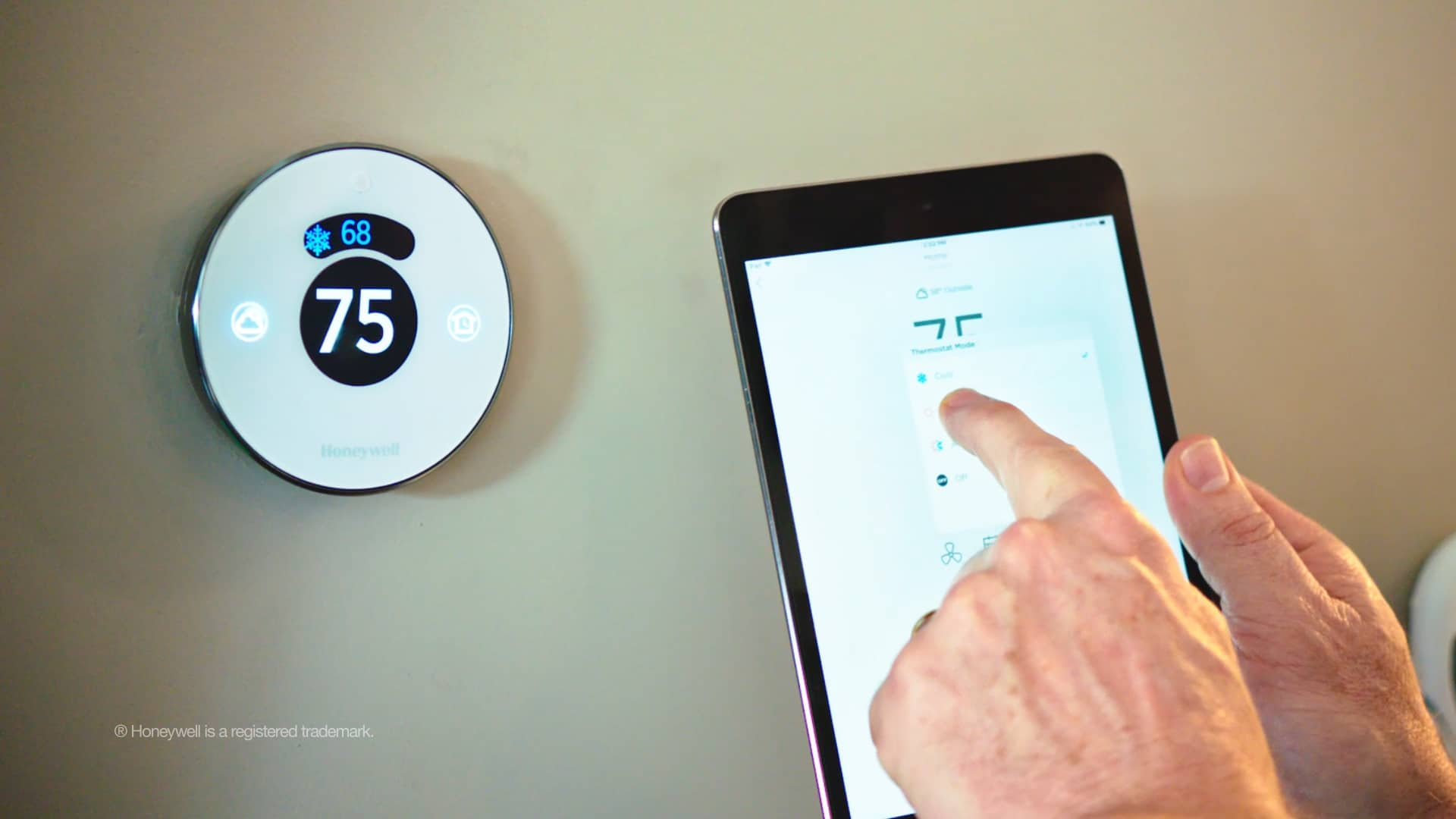 Smart home climate control with smart thermostat