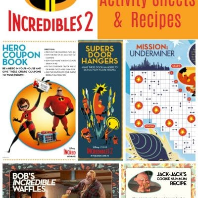 Free Printable Incredibles 2 Crafts, Activity Sheets and Coloring Pages