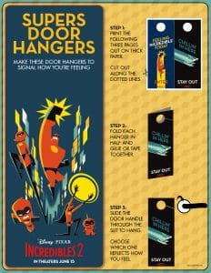incredibles 2 crafts: Door hangers