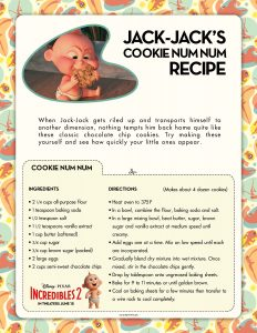 Cookie recipe from Incredibles 2