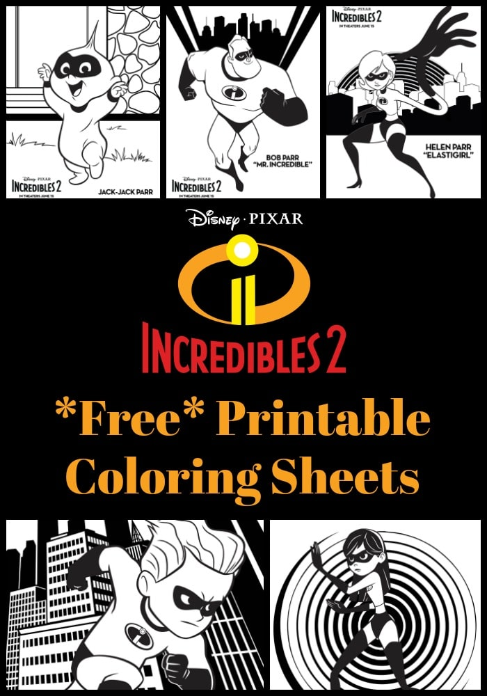 Free Printable Incredibles 2 Crafts Activity Sheets And Coloring Pages