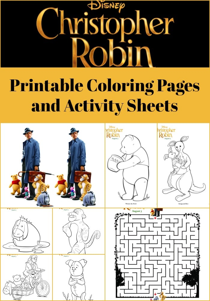 Here are some fun and free printable coloring pages and kids activity sheets from Disney's Christopher Robin movie the kids will love!