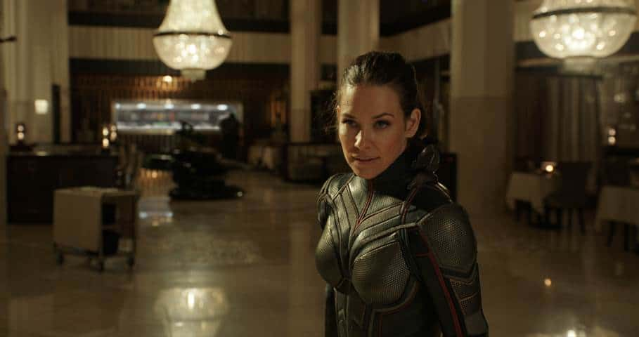 evangeline lilly as the wasp in antman and the wasp