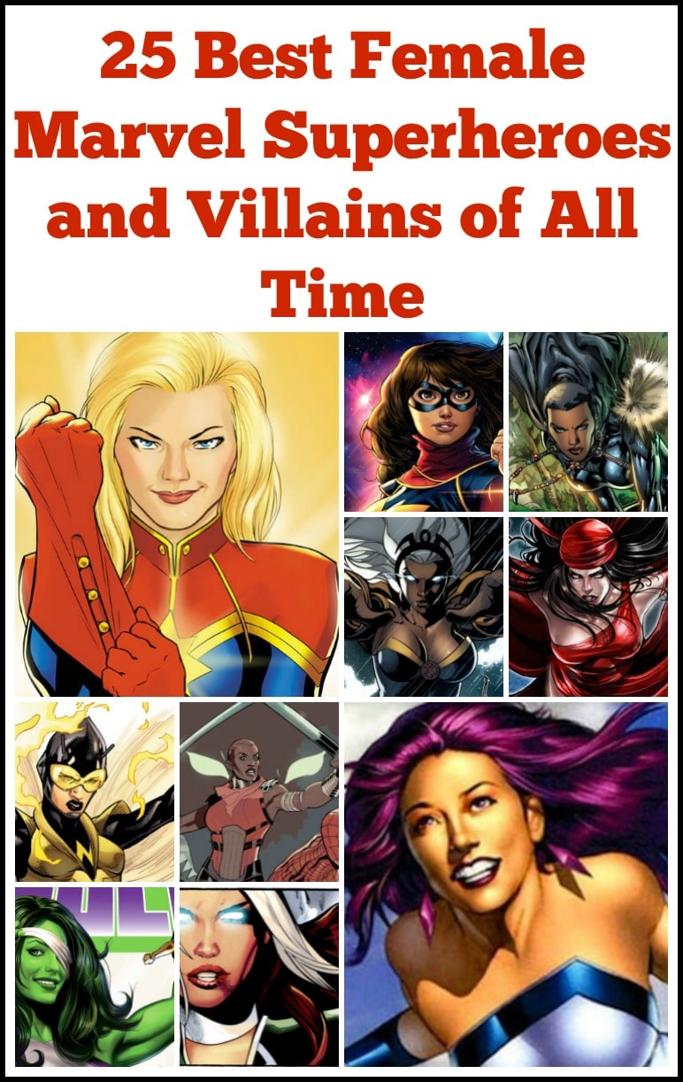 These are the best marvel female superheroes and villains of all time. Including female Marvel superheroes of color and the ladies of the MCU.