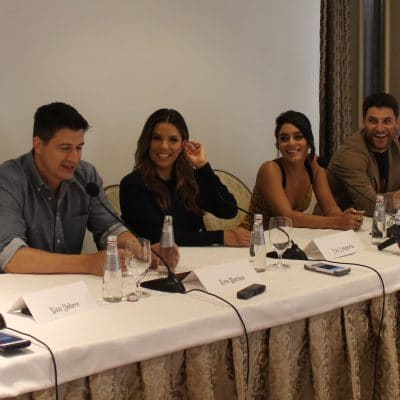 cast of dog days at press conference