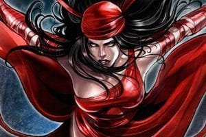 female marvel superhero elektra