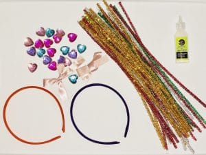 materials needed for a diy tiara