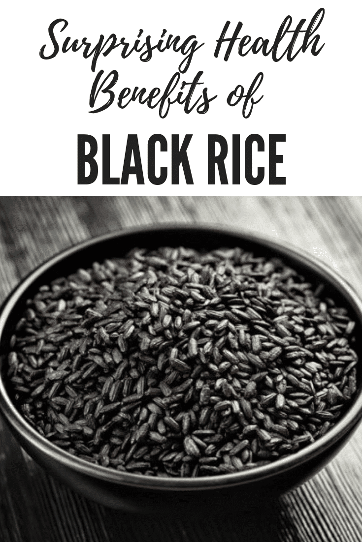 The health benefits of black rice are several, but it is worth bearing in mind that the scientific jury is still out on anti-oxidants, anthocynanins and superfoods in general. black rice bran is excellent for your digestive system (the fiber) and for your circulatory system and skin (the vitamin E), while not containing as much of that naughty sugar. Black rice also has good levels of iron, which is also excellent for preventing anemia, and keeping your general health and energy levels high.