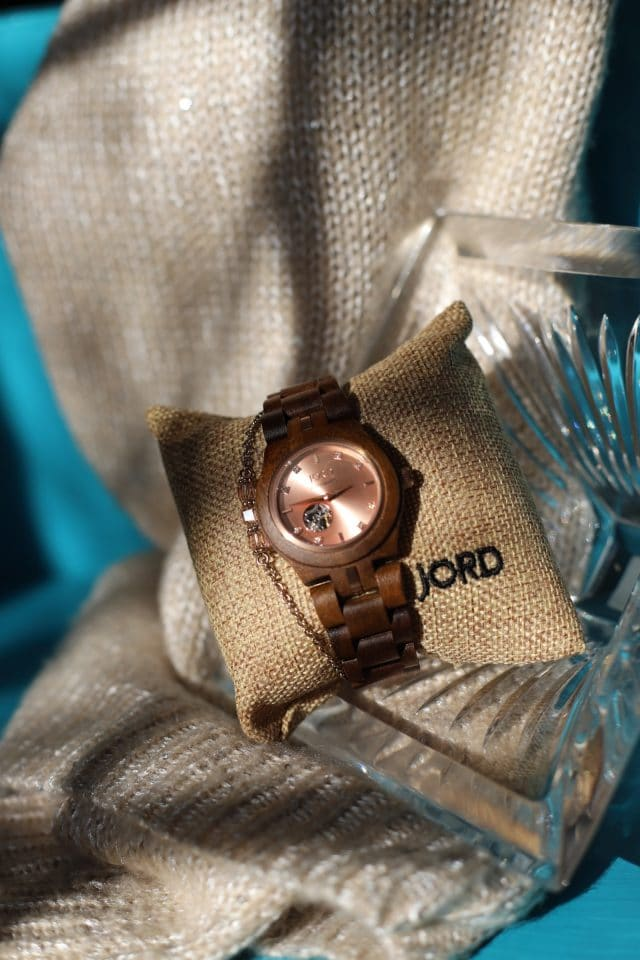 Cora Koa Rose Gold Jord Watch