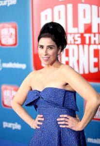 "HOLLYWOOD, CA - NOVEMBER 05: Actor Sarah Silverman attends the World Premiere of Disney's ""RALPH BREAKS THE INTERNET"" at the El Capitan Theatre on November 5, 2018 in Hollywood, California. (Photo by Jesse Grant/Getty Images for Disney) *** Local Caption ***"