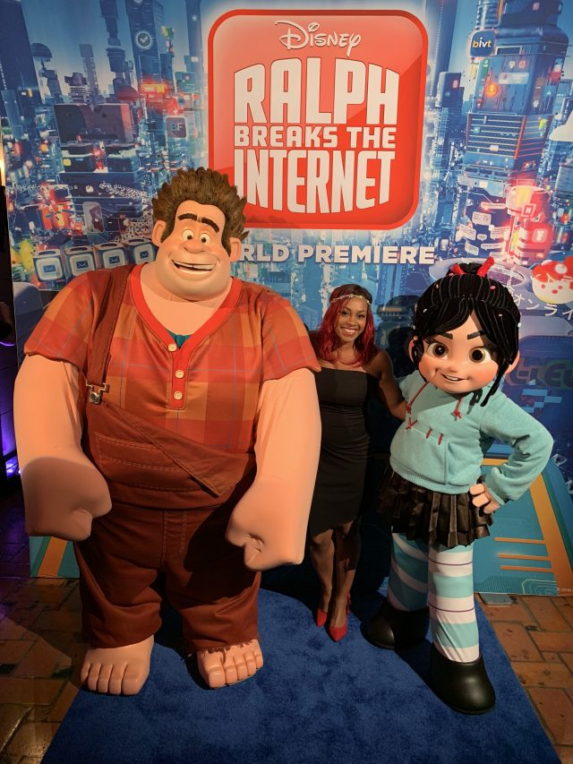 wreck it ralph and vannelope with Ralph Breaks the Internet Bloggers