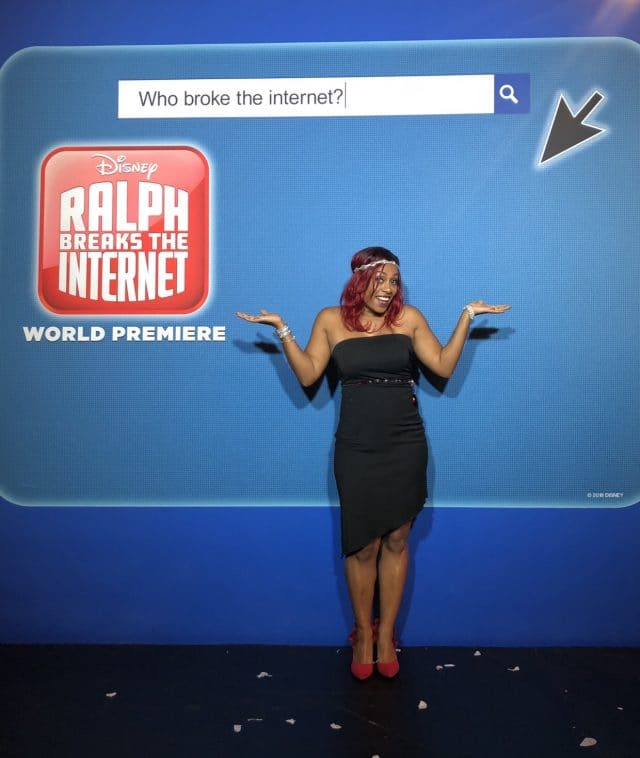 red carpet photos from the Hollywood premiere of Ralph Breaks the Internet