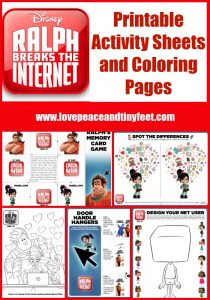 Ralph Breaks the Internet Coloring Pages and Activity Sheets for Kids {Printable}